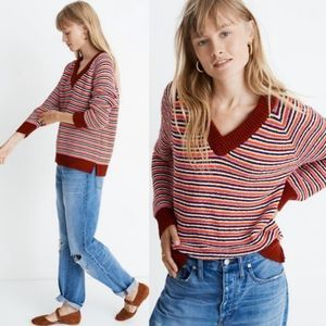 Madewell Arden V-Neck Crop Pullover Sweater